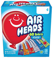 Airheads Candy Bars, Variety Stocking Stuffers Bulk Box, Chewy Full Size Fruit
