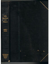 C.P.A. Questions and Answers by Bennett R.J.[1914]Hardcover VERY RARE Ed~Vtg VGD