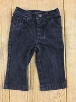 Old Navy Baby Boys Jeans Pants Size 6 12 months Black Stretch Waist Charcoal