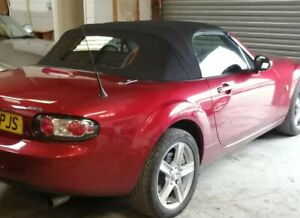 Mazda MX5 Mark3 2005 Onwards. Mohair hood/top with glass hrw MOBILE FITTING