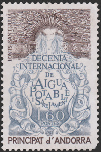 French Andorra #292 MNH Drinking Water