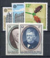 Luxembourg 1990 Mi. 1243-1247 Neuf ** 100% Insectes, hommes d'État, Courrier