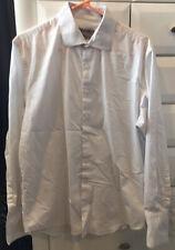 Kenneth Cole Reaction 16  32/33 Men Slim-Fit White Long-Sleeve Dress Shirt