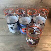 1995 Coca Cola Polar Bear 16 OZ Glasses 8pc Set Coke Indiana Glass NIB