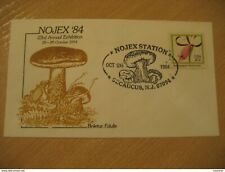 SECAUCUS 1984 Mushrooms Champignons Boletus Cancel Cover USA Micology Micologie