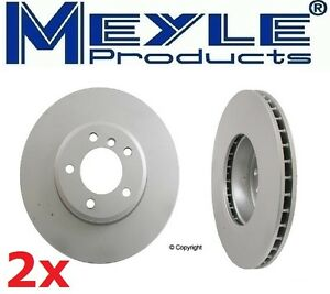 2-Meyle GEOMET®Anti Rust Coated Front Rotors BMW E60 525 528 528 530 535