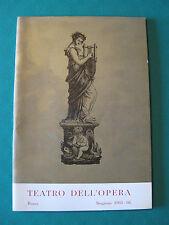 """TEATRO DELL'OPERA ROMA STAGIONE 1965-66 """"IL BALLETTO DELL'OPERA DI PARIGI"""""""
