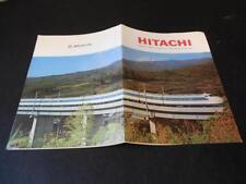 Vintage 1964 - 1965 Hitachi Tokyo Japan  Brochure Worlds Fair