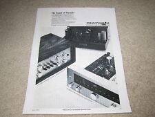Marantz Ad, 1965, Model 7, 10b, 8b Amp, Pre, Tuner Ad