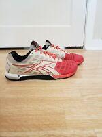 Reebok CF7+ Nano 3.0 Crossfit Training Pink White Shoes Womens 9.5