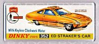 UFO ED STRAKER'S CAR toy box art WIDE FRIDGE MAGNET - CLASSIC TOY MEMORIES!