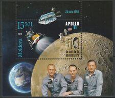 Moldawien 2019 Raumfahrt 50 Jahre Mondlandung Apollo 11 postfrische Block