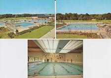 3 vers. Ansichtskarten/Postkarten vom Sportzentrum Rheinkamp 1974, Moers-Repelen