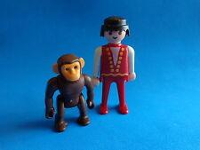Playmobil Empleado de circo con chimpancé - Zirkusmann mit Chimpanse