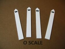 SET OF 4 O SCALE CUSTOM-MADE RAILROAD WHISTLE POSTS, NEW