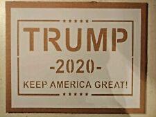 "Trump 2020 Keep America Great KAG MAGA 11"" x 8.5"" Custom Stencil FREE SHIPPING"
