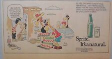 "Sprite ad: Funny Mort Walker Giraffe Artwork! 1960's Third Page Size:  ""Japan"""