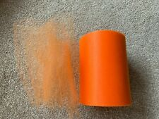 5m of 150mm Wide Soft Nylon Orange Tulle Netting Fabric Wedding/Tutu/Crafts