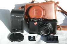 Leica D-LUX 3 10.MP Digital Camera Black Brown Leather Case Batt/Charg As Is