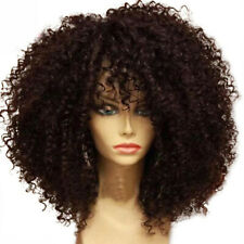 Women Short Curly Wavy Wig Black Ladies Costume Synthetic Hair US SHIP