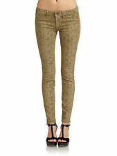 Nwt $175 Rich & Skinny Python Print Skinny Slim Jeans Pants Trousers Olive 30