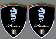 2 adhésifs stickers noir chrome ALFA ROMEO BRERA  (idéal ailes avant)