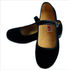 Women Lady Chinese Mary Jane Flats Nurse Work Velvet Comfy Strappy Shoes