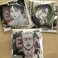 Attack on Titan Kyojin-ten FINAL Can Badge - Eren Levi Erwin