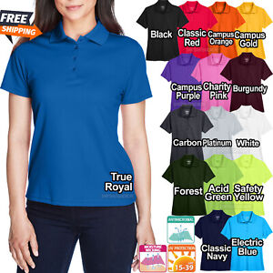 Ladies Plus Size Moisture Wicking Polo Shirt Dri Fit Womens XL, 2XL, 3XL, 4XL
