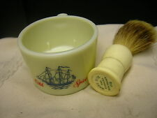 Vintage Shaving Brush and Cup Old Spice Pure Badger 649 Rite Brush