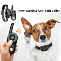 Nuevo Eléctrico Collar de Adiestramiento Para Perros Antiladridos Control remoto