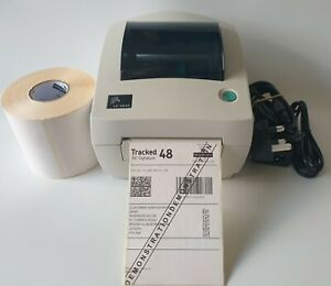 Zebra LP2844 Thermal  Label Printer PSU  USB Cable 500 Labels ref.506
