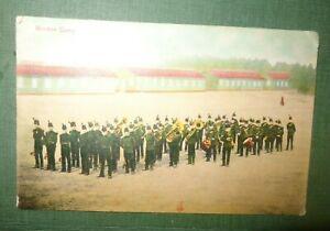 Military Postcard - R A Bordon Army Camp, Military Band Milton Postcard LG