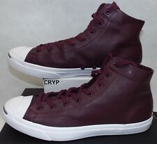 f15151291bb7 New Mens 13 Converse Jack Purcell JP Mid Dark Sangria Leather Shoes  85  157706C