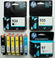 Lot Of 9 HP Ink Cartridge 564 920 934 935 97 Tri Color Cyan Yellow Black Expired