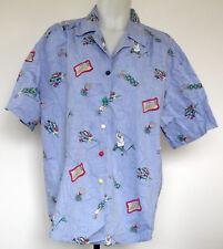 Koret Sport Golf Chambray Blue S/S Button-Front Shirt w/Golf Ball Buttons 1X