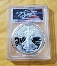 2019 S PROOF SILVER EAGLE PCGS PR70 FIRST STRIKE CLEVELAND SIGNED FLAG POP 40