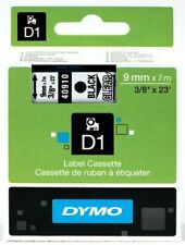 Genuine  DYMO D1 Black on Clear 9mm x 7m Label Tape (40910) S0720670