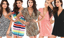 V Neck Beach Summer Dress Cover Up!  Elastic waistline.  5 colours NEW