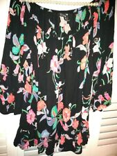 Evans 18 Black Top bell sleeves frill to bottom 3/4 sleeve