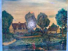 Art Naif Louis Gerbaud (1913-) Huile Sur Toile 10F 55x46 Cote Akoun