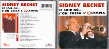 DOUBLE CD PICTURE 20T SIDNEY BECHET LE SOIR OU.. L'ON CASSA L'OLYMPIA 1996 RARE