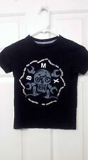 Boy's Size XS (5) Old Navy Black BMX Skull T-Shirt