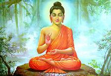 Poster A3 Arte Oriental Art Buda Color Colour Buddha