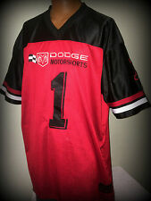 DODGE MOTORSPORTS NUMBER 1 EMBROIDERED DODGE ATHLETIC GEAR ADULT XL JERSEY