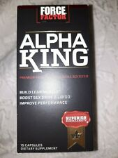 Force Factor Alpha King 15 Capsules Build Lean Muscle Exp 07/21