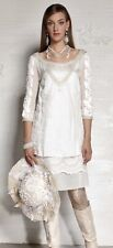 ✨Amazing ELISA CAVALETTI gothic style Romantic Off White Tunic Dress Sz S New