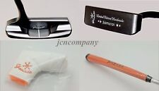 "YAMADA GOLF PUTTER Handmade SAMURAI Copper Right Handed 34"" + Grip & Cover Japan"