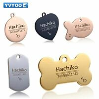 Engraved Dog Collar Tag Customized Stainless Steel Pet Tags Name ID Number Pet