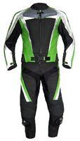 Lederkombi zweiteilig schwarz Kawa grün Gr. 46 54 58 60 leather suit